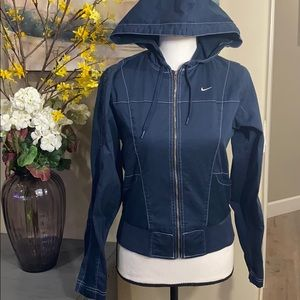 Vintage Nike jacket and capris outfit, Navy, small
